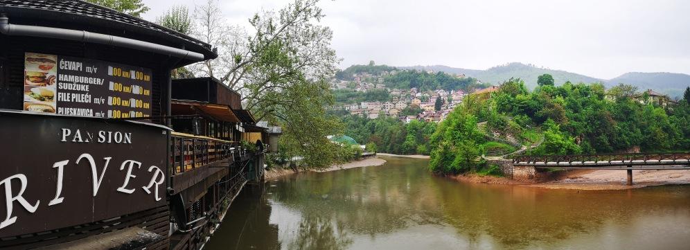 View of the Miljacka, Sarajevo