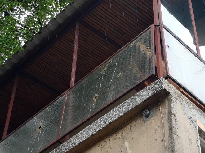 Bullet marks on Sarajevo street