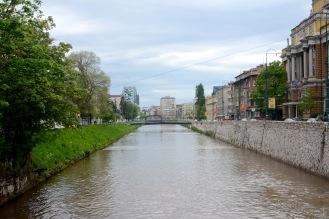 View of Sarajevo with the Miljacka river