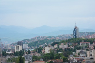 View of Sarajevo with the Avaz twist tower