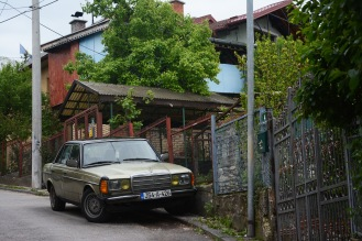Mercedes on Sarajevo street