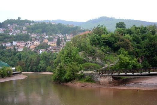 View of the Miljacka river, Sarajevo