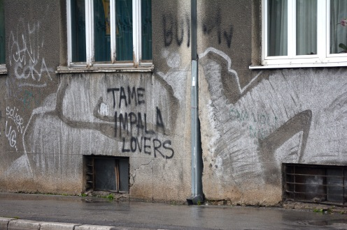Someone is a fan of Tame Impala in Sarajevo