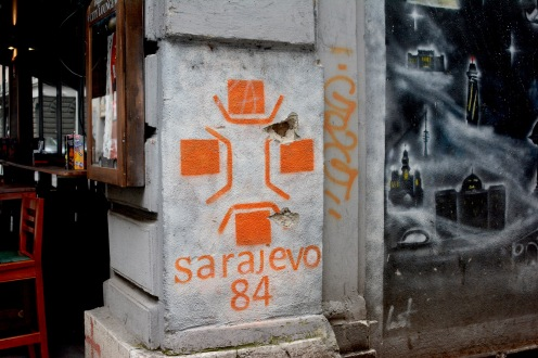 Graffiti on Sarajevo street