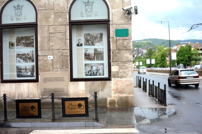 The street corner where Gavrilo Princip shot Franz Ferdinand