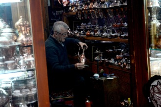 Coppersmith on Kazandžiluk street, Sarajevo
