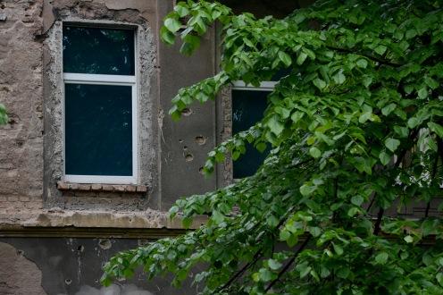 Bullet marks on Sarajevo streets