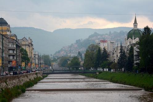 Sarajevo with the Miljacka river