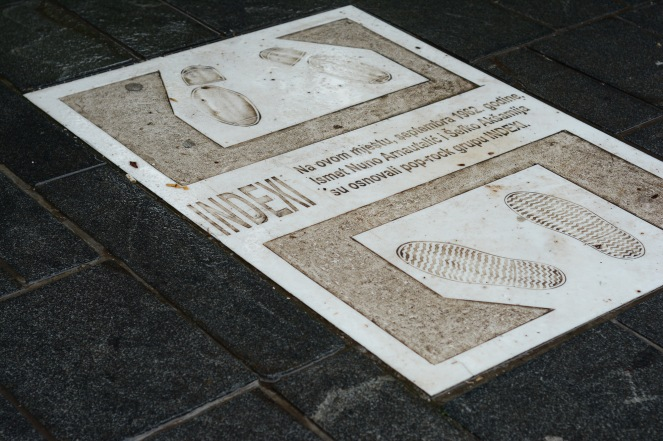 The spot where Indexi were founded, Sarajevo