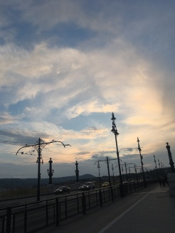 The sky over Margit bridge