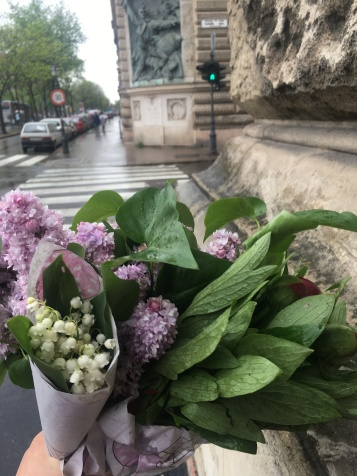 Last lilac/first lily of the valley of the season. And rain.