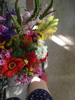 Flowers from Hunyadi market