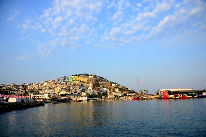 View from Kușadası harbour