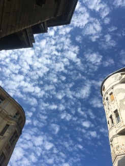 The sky over Józsefváros