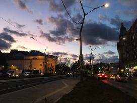Sunset on Deák square