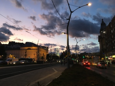 Sunset on Deák square