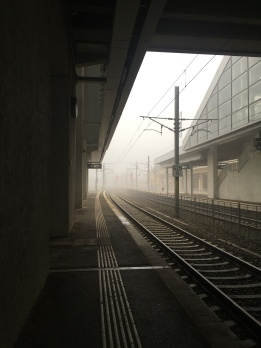 Fog in Arad station