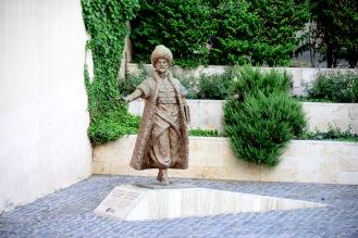 Statue of Ottoman chronicler İbrahim Peçevi, Pécs